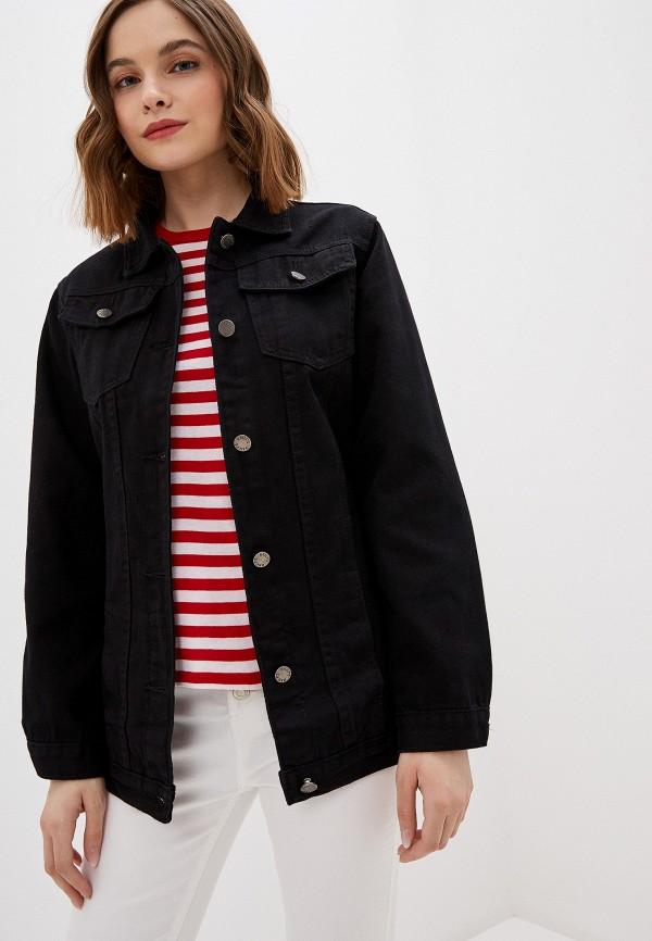 женская джинсовые куртка haily's, черная