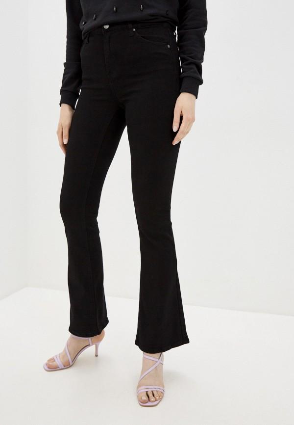 женские джинсы клеш haily's, черные