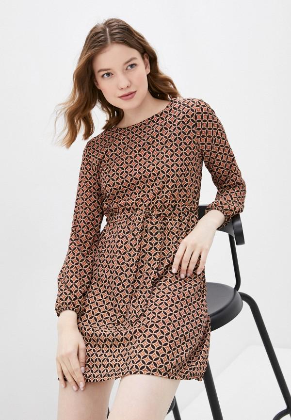 женское повседневные платье haily's, коричневое