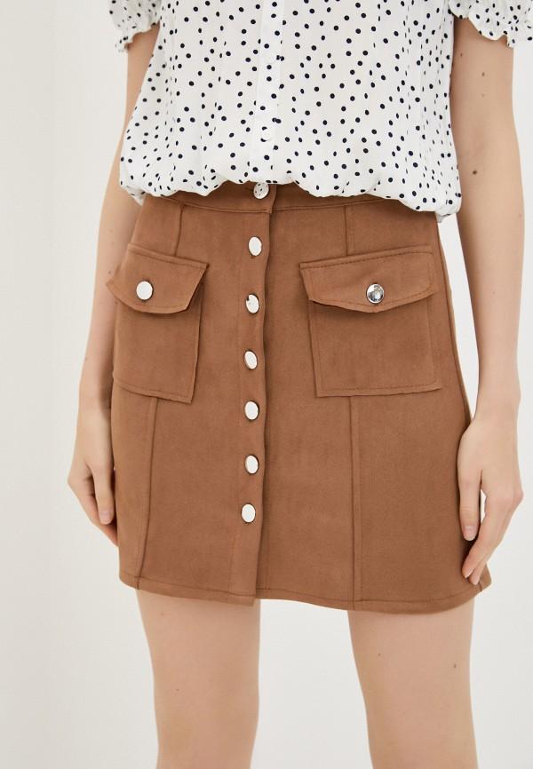 женская прямые юбка haily's, коричневая