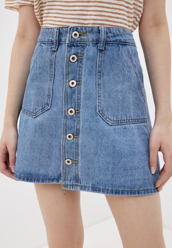 женская джинсовые юбка haily's, синяя