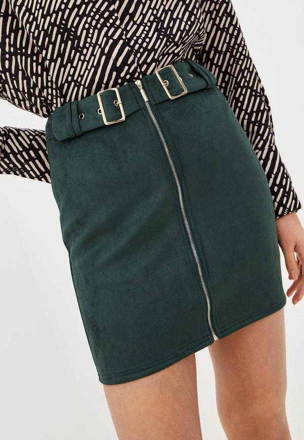 женская зауженные юбка haily's, зеленая