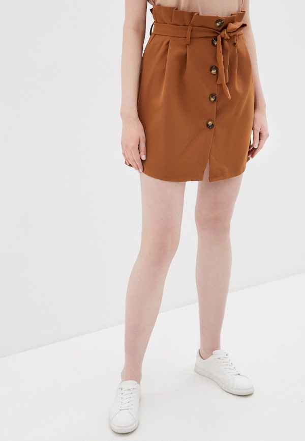 женская зауженные юбка haily's, коричневая