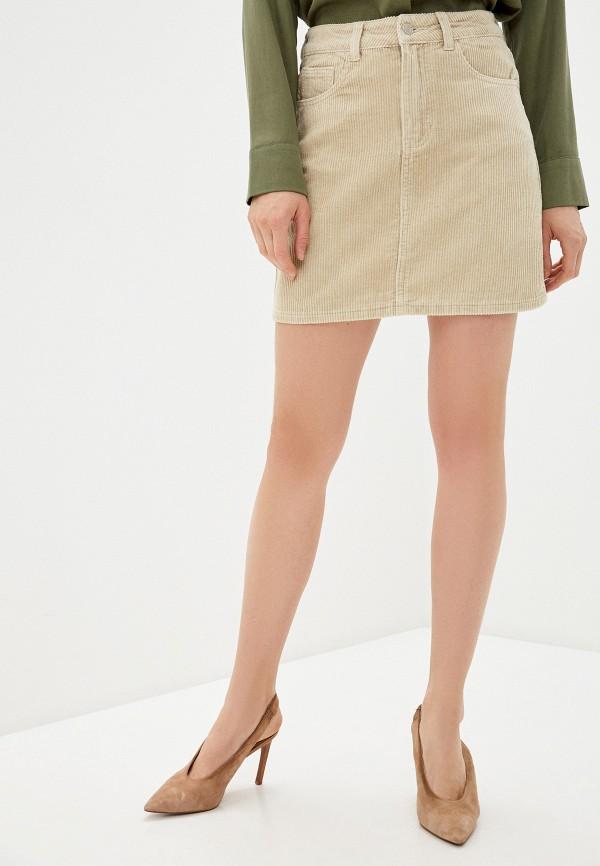 женская прямые юбка haily's, бежевая