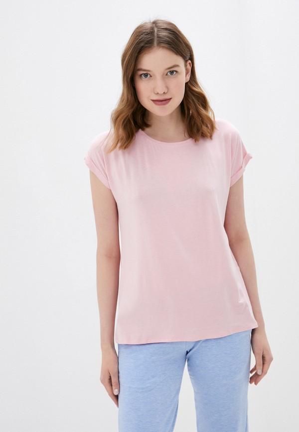 женская футболка haily's, розовая