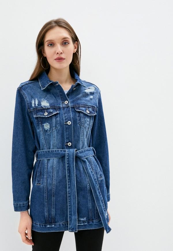 женская джинсовые куртка haily's, синяя