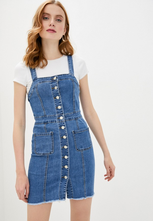 женский джинсовые сарафан haily's, синий