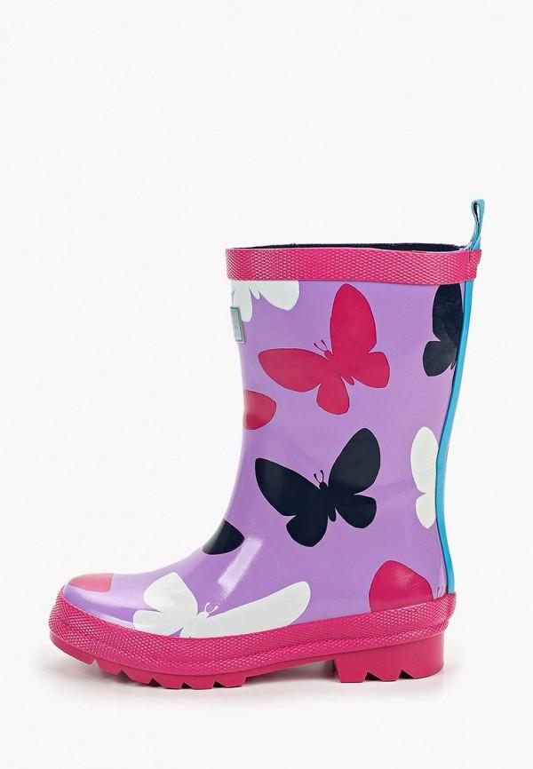 резиновые сапоги hatley для девочки, фиолетовые