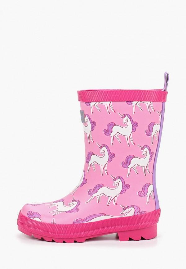 резиновые сапоги hatley для девочки, розовые