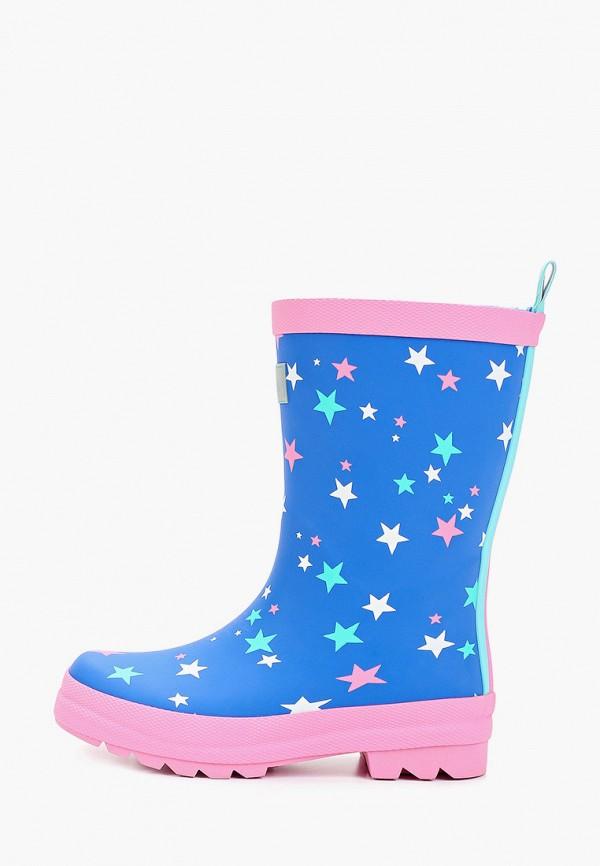 резиновые сапоги hatley для девочки, синие