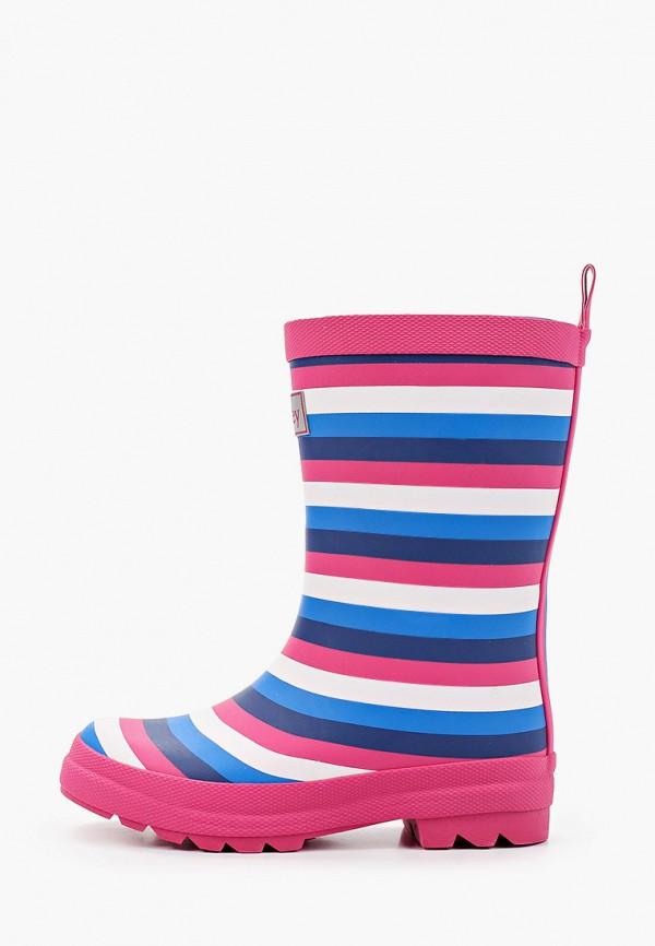 резиновые сапоги hatley для девочки, разноцветные