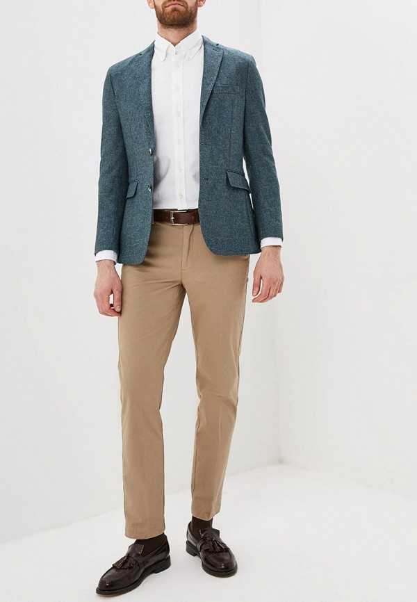 Фото 2 - Мужской пиджак Hackett London серого цвета