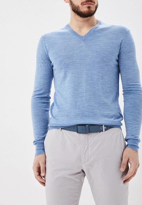 мужской пуловер hackett london, голубой