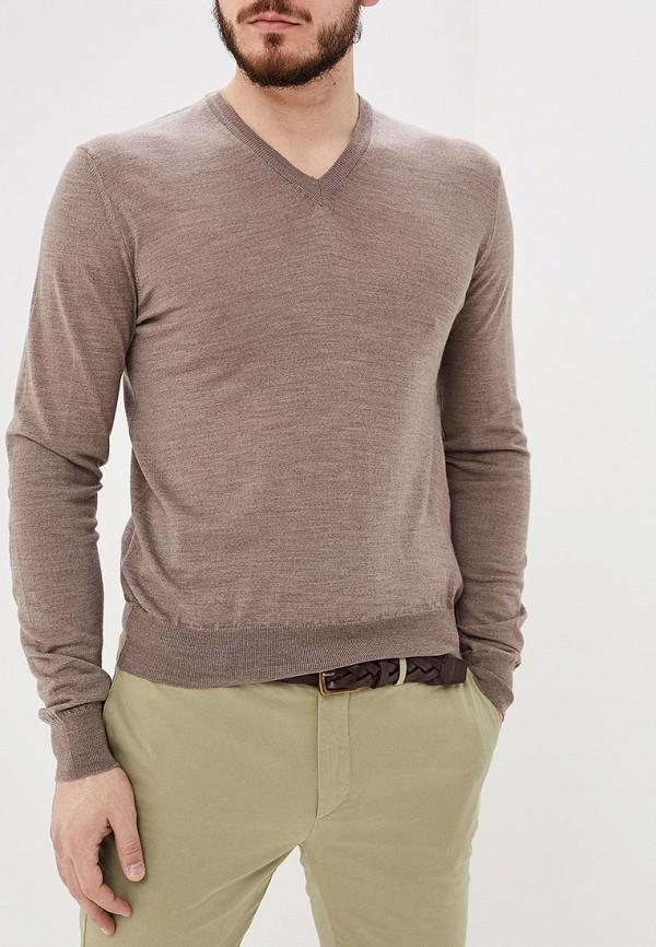 мужской пуловер hackett london, коричневый