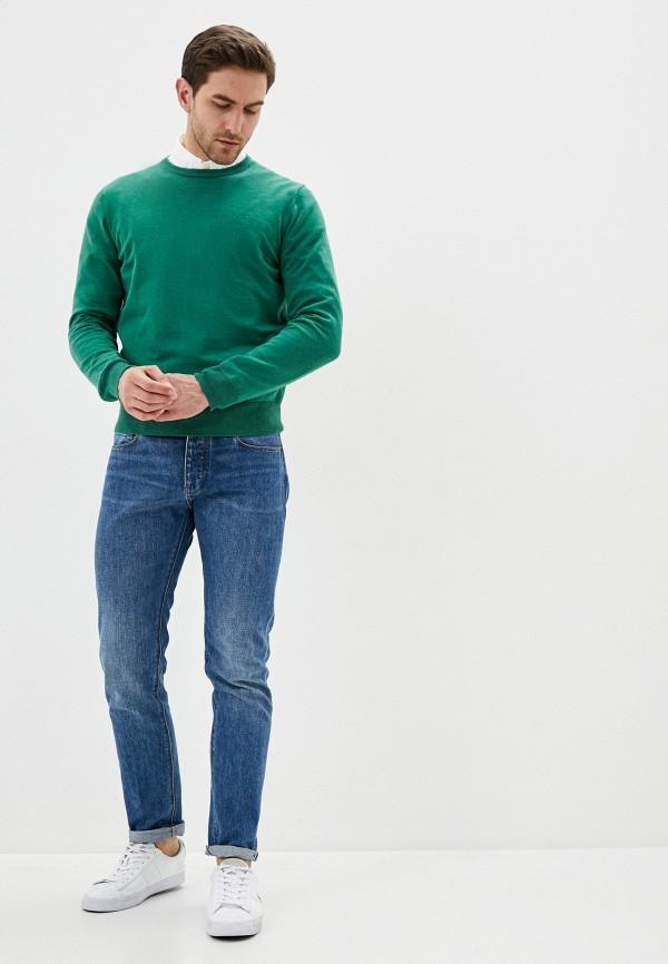 Фото 3 - Мужское джемпер Hackett London зеленого цвета