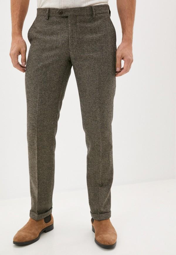 мужские классические брюки hackett london, коричневые