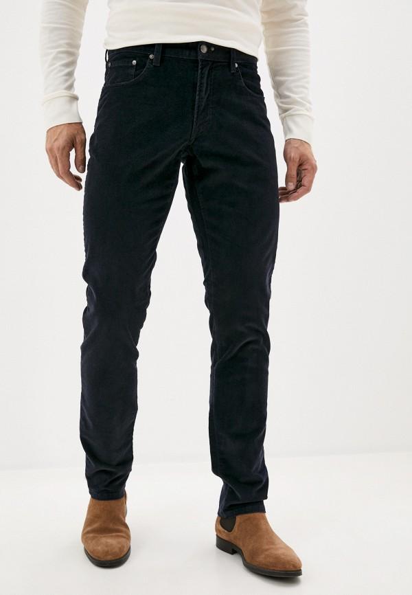мужские зауженные брюки hackett london, синие