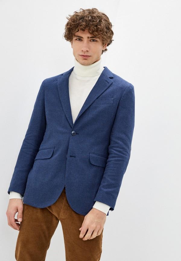 мужской пиджак hackett london, синий