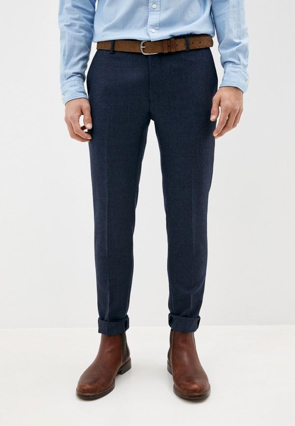 мужские классические брюки hackett london, синие