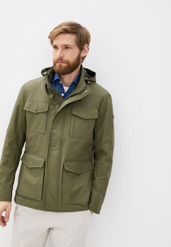 мужская куртка hackett london, хаки