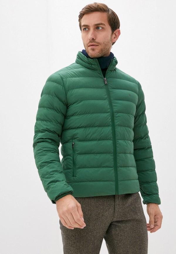 мужская куртка hackett london, зеленая