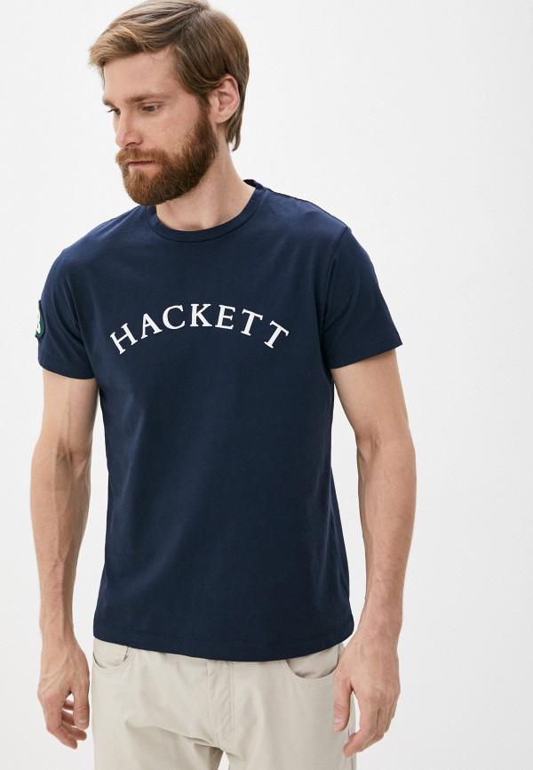 мужская футболка hackett london, синяя