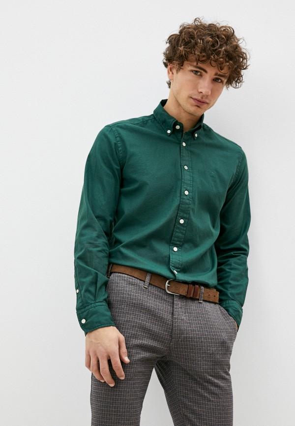 мужская рубашка с длинным рукавом hackett london, зеленая