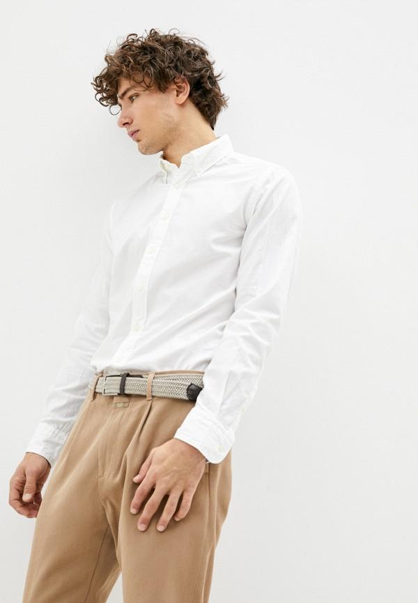 мужская рубашка с длинным рукавом hackett london, белая