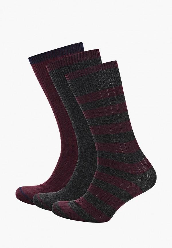 Носки  бордовый, серый цвета