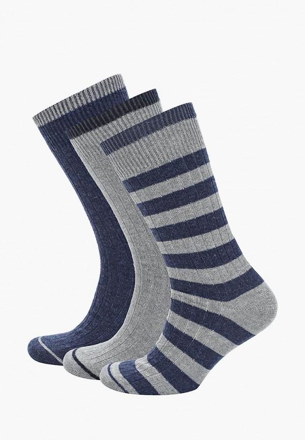 Носки  серый, синий цвета