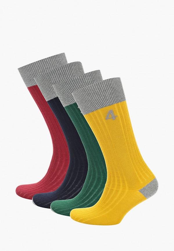 Носки  бордовый, желтый, зеленый, синий цвета