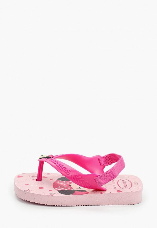 сандалии havaianas для девочки, розовые