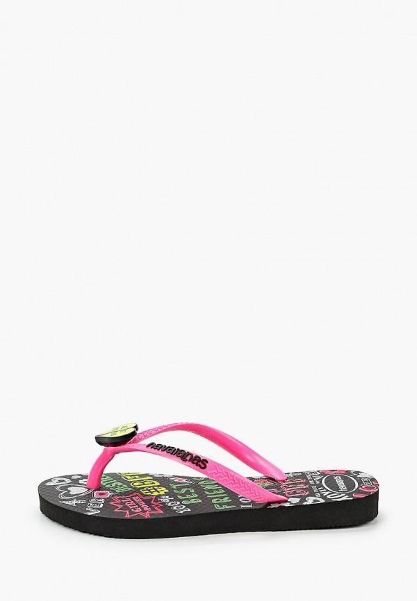 сланцы havaianas для девочки, розовые