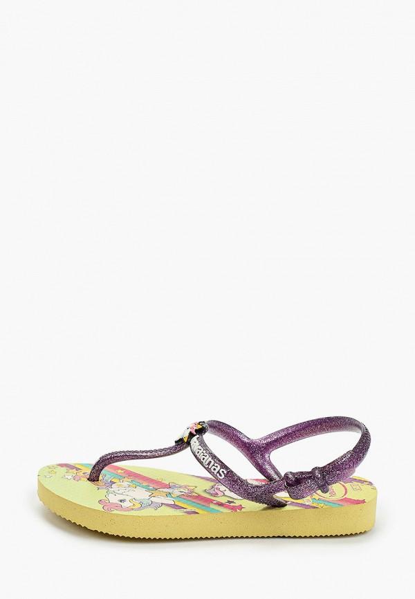 сандалии havaianas для девочки, фиолетовые