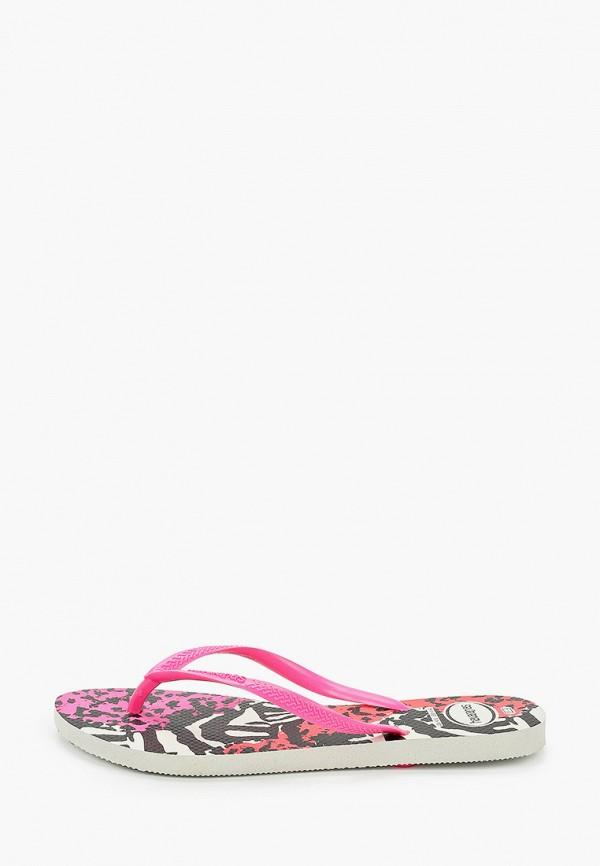 женские сланцы havaianas, розовые
