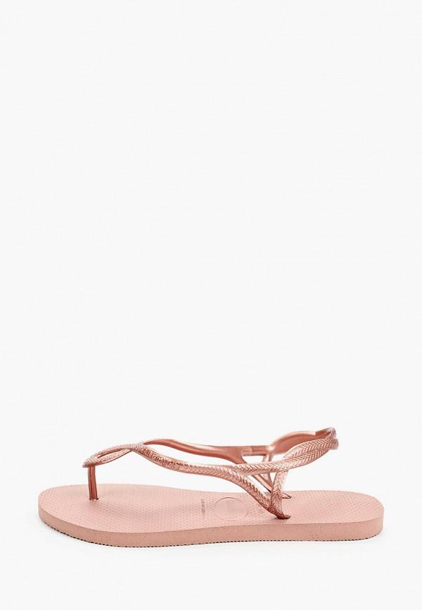 женские сандалии havaianas, розовые