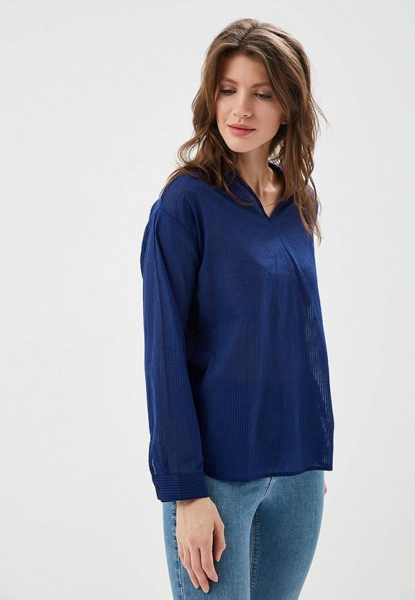 Купить Блуза H:Connect, hc002ewaawu7, синий, Весна-лето 2018
