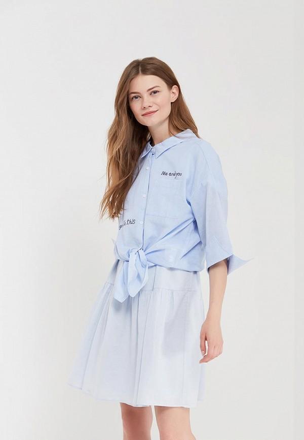 Купить Рубашка H:Connect, hc002ewaaww5, голубой, Весна-лето 2018