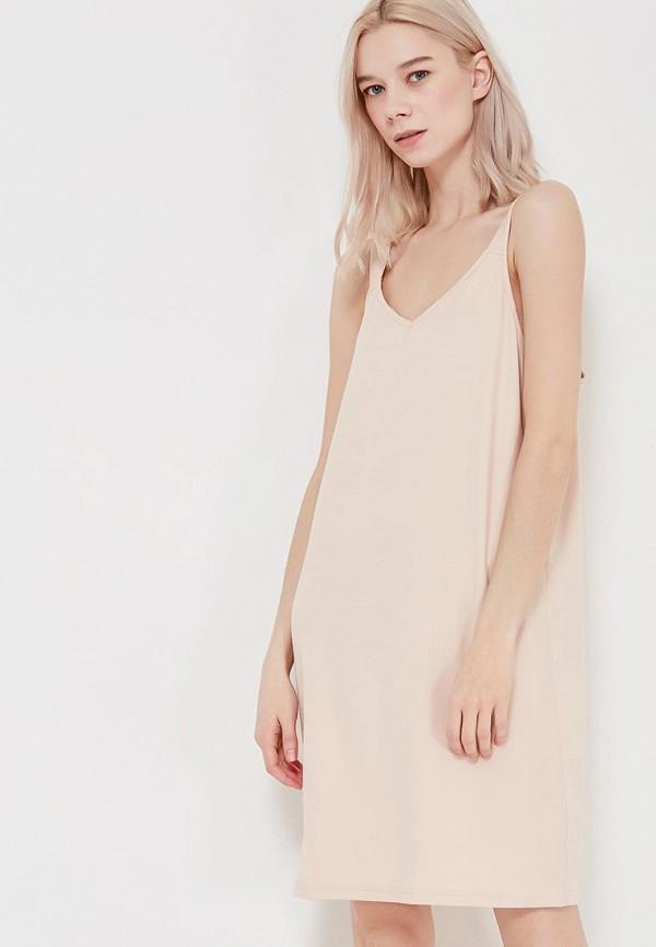 Купить Платье H:Connect, HC002EWAAXB8, бежевый, Весна-лето 2018