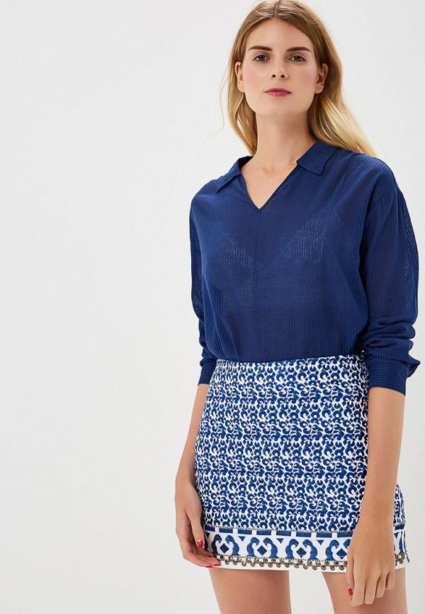 Блуза H:Connect, hc002ewbgft0, синий, Весна-лето 2018  - купить со скидкой