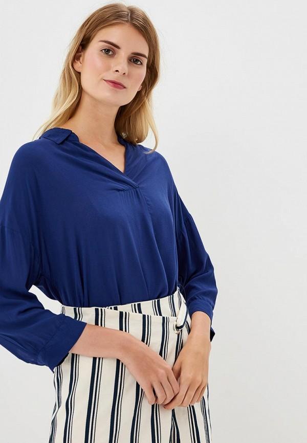 Купить Блуза H:Connect, hc002ewbgft3, синий, Весна-лето 2018