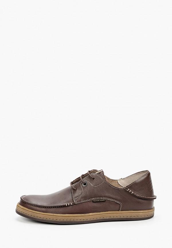 мужские туфли-дерби hcs, коричневые