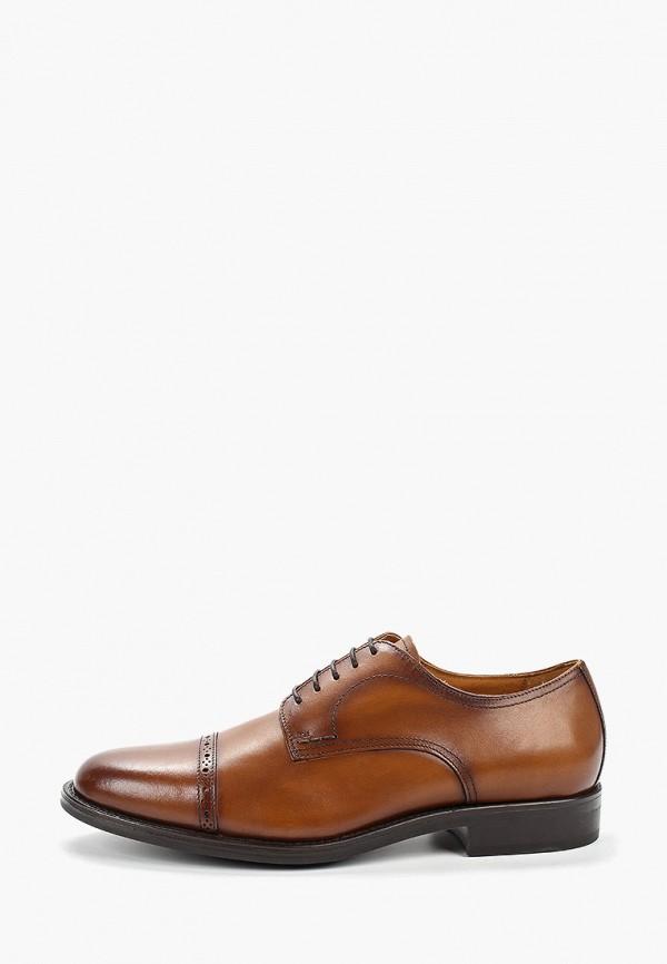 мужские туфли mango man, коричневые