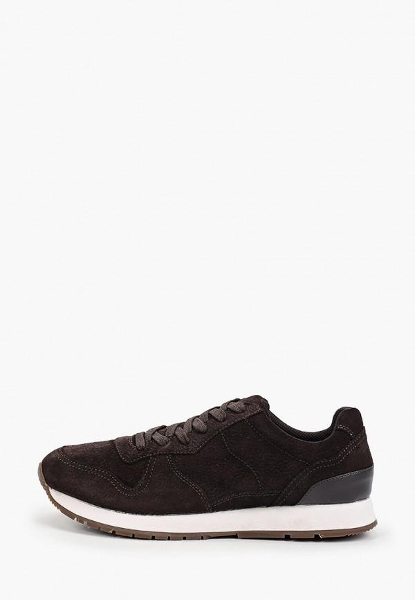 мужские кроссовки mango man, коричневые