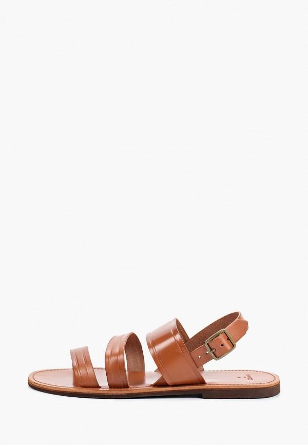 мужские сандалии mango man, коричневые