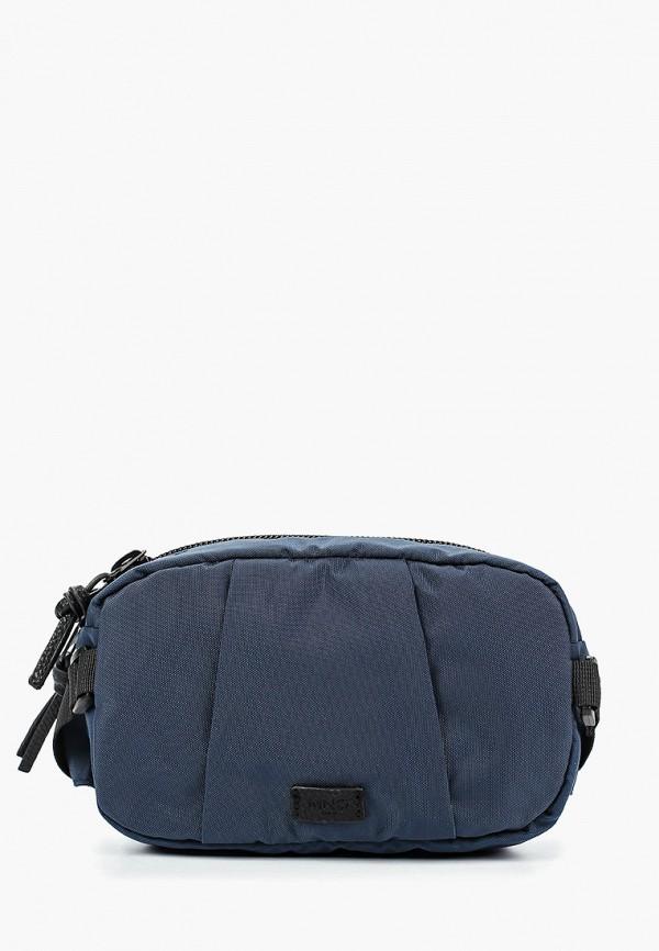 мужская сумка mango man, синяя