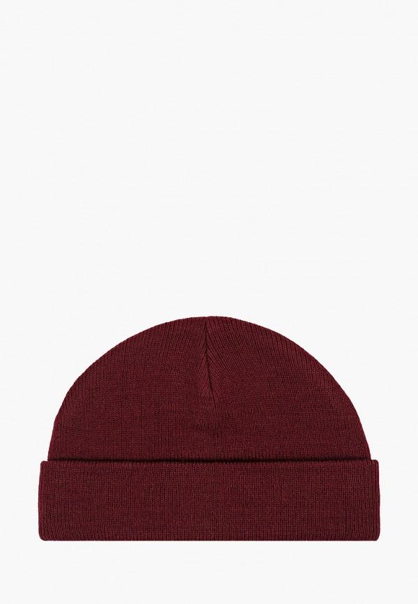 мужская шапка mango man, бордовая
