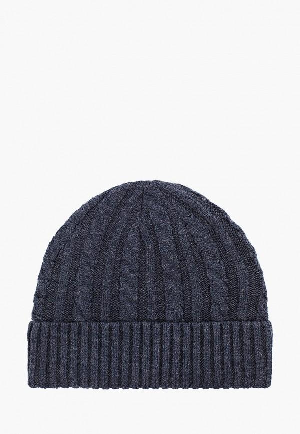 мужская шапка mango man, синяя