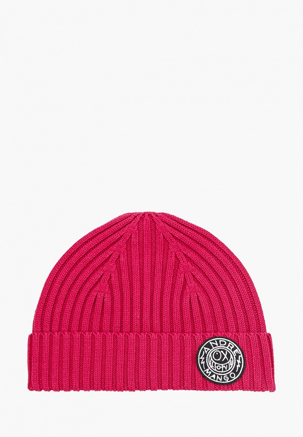 мужская шапка mango man, розовая