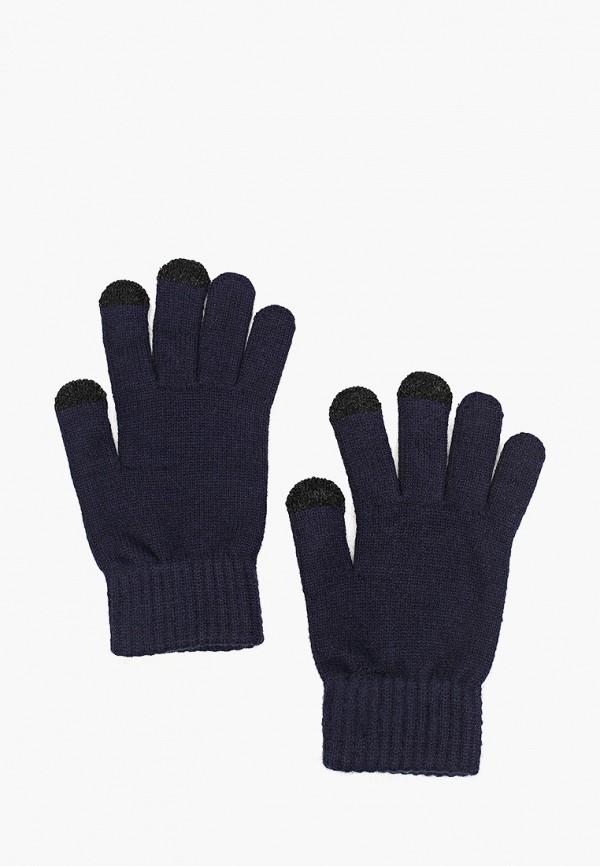 мужские перчатки mango man, синие